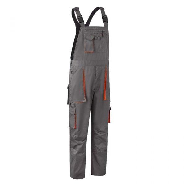 Radne farmer hlače PADDOCK sivo/narančaste