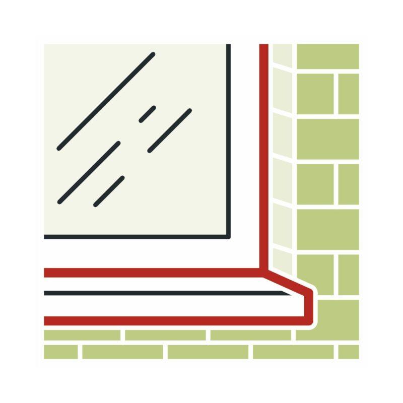 illbruck FA101 silikon za prozorske i priključne fuge 310ml srednje smeđa