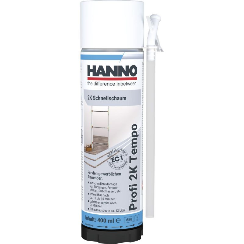 HANNO 2-K Profi montažna pjena Tempo 400 ml