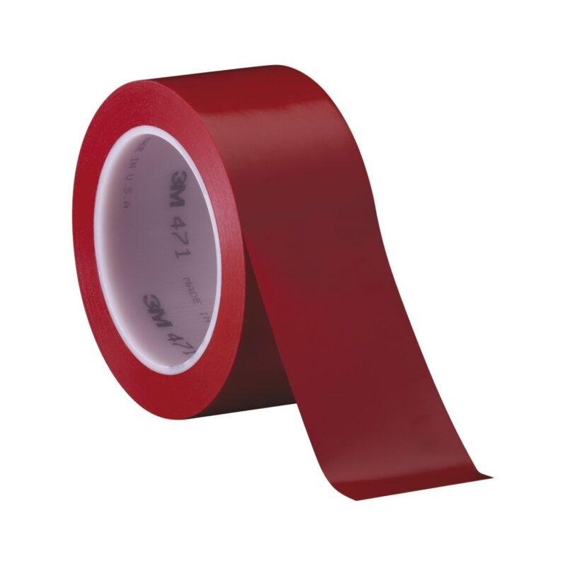 3M mekana-PVC ljepljiva traka 471 0,12mm x 50mm x 33m crvena