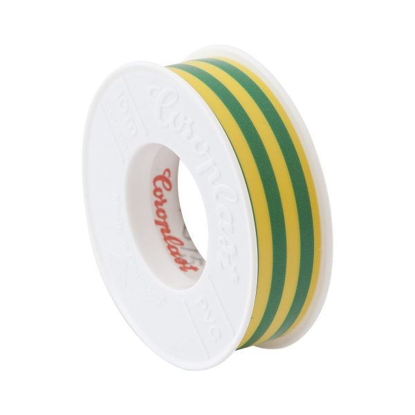 COROPLAST izolacijska traka 0,15x15mmx10m žuto/zelena