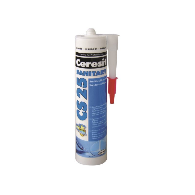 MAKROSIL sanitarni silikon CS 25, 300 ml, bijeli