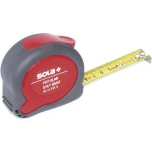 SOLA izvlačni metar Popular 5 m s EU ispitnim znakom za točnost II