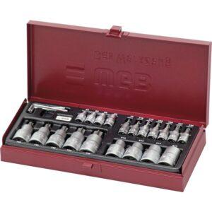 """WGB set nasadnih ključeva 3940 1/4"""" Torx® 23-djelni u limenoj kutji"""