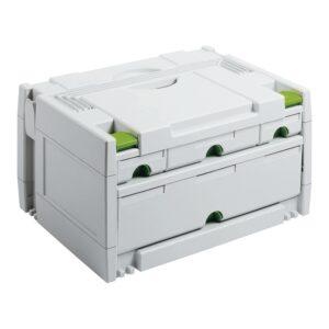 FESTOOL Ladičar Systainer SYS 3 SORT/4 ladice 395 x 295 x 210 mm