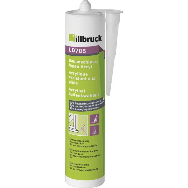 Illbruck akril za priključne fuge LD705 20% 310ml, bijeli