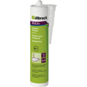 illbruck GS231 sanitarni i silikon za staklo 310ml bijeli