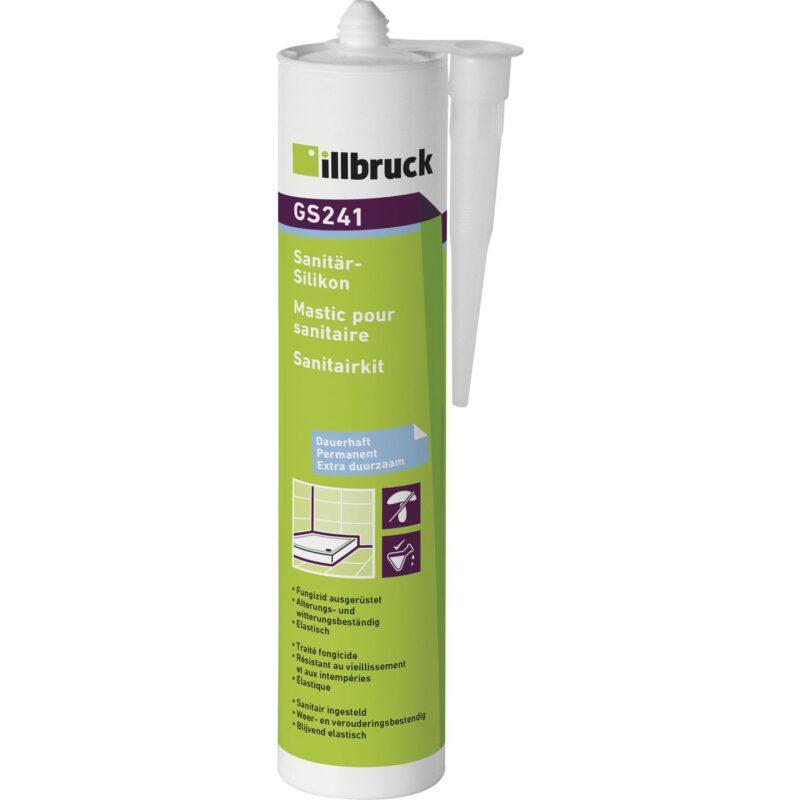 illbruck GS241 sanitarni i silikon za staklo 310ml prozirni