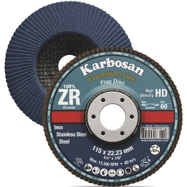KARBOSAN brusna lamelna ploča ravna premium line HD ø 125 mm gran.80