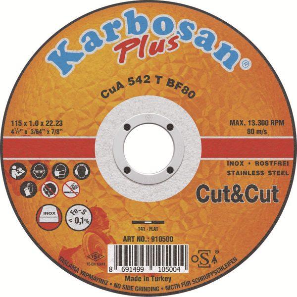 KARBOSAN rezna ploča Cut&Cut Thin Line 115 x 1,0 x 22,23 mm