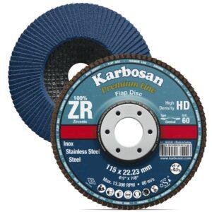 KARBOSAN brusna lamelna ploča RAVNA comfort line HD ø 125 mm gran. 60