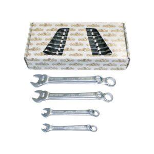 SOLIDO set prstenasto-viličastih ključeva DIN3113A, 10-32 mm, 12-dijelni