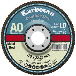 KARBOSAN brusna lamelna ploča RAVNA comfort line LD ø 125 mm gran. 60