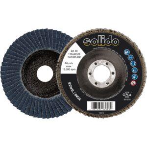 Brusna lamelna ploča SOLIDO cirkonski korund 115 mm, gradacija 60