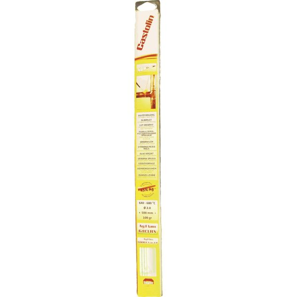 CASTOLIN Srebrni tvrdi lem 6113RX 45% , ø 2 mm, duljina 500 mm, sadržaj 100 g