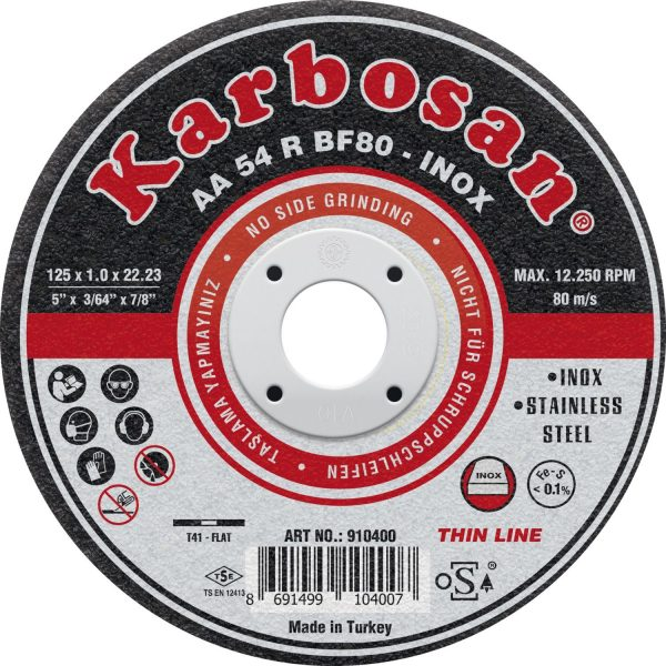 KARBOSAN rezna ploča Inox thin line ø125 x 1.0 x22.23