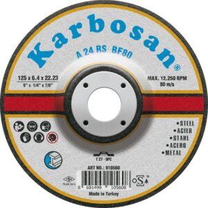 KARBOSAN brusna ploča standard line A 24 RS BF80 ; ø125 x 6.4 x 22.23