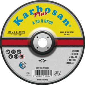 KARBOSAN brusna ploča plus line A 30 Q BF80; ø125 x 6.4 x 22.23