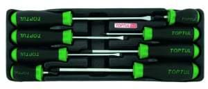 TOPTUL Set alata 8kom - odvijači plosnati i križni