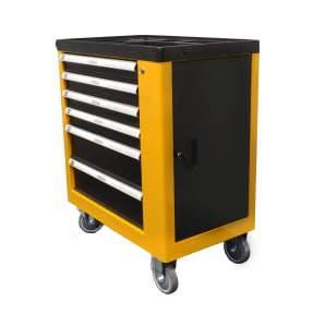 Kolica za alat, metalna, boja: crno-žuta