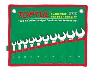 TOPTUL Kombinacija ključevi kratki 10-19mm, u torbi
