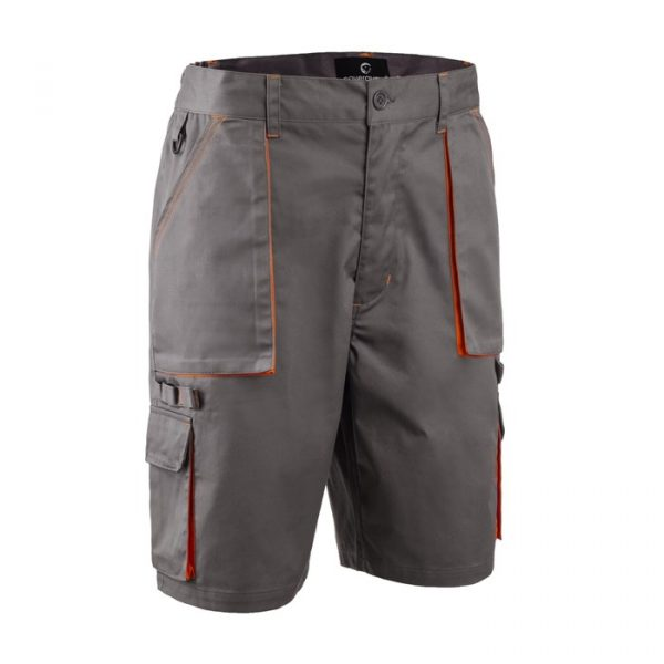 Radne kratke hlače PADDOCK sivo/narančaste
