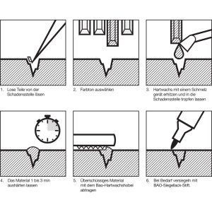 BAO stolarski vosak u štapiću čvrsti orah srednje tamni / 566