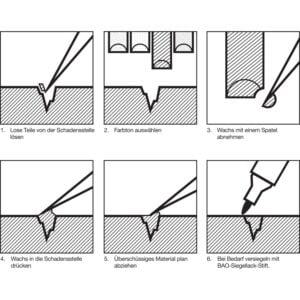 BAO stolarski vosak u štapiću crno-bijeli - 20 malih štapića