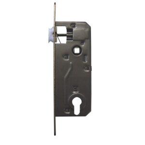 Brava za vrata, razmak 90 mm, za ključ, VK 9 mm, DM 40 mm, čelik poniklani