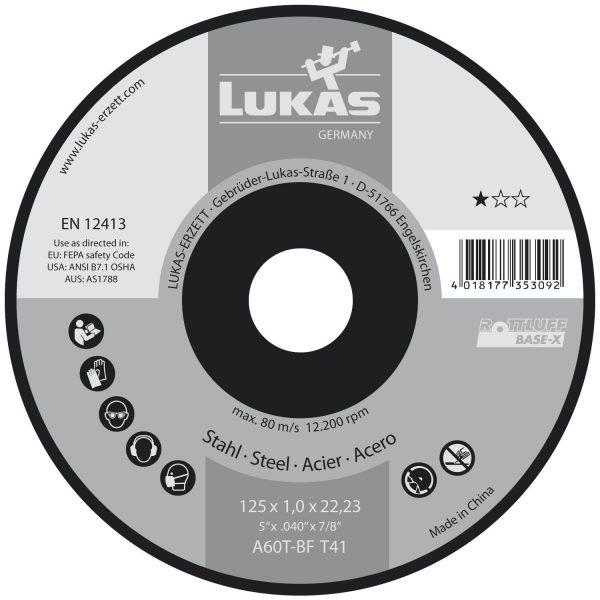 LUKAS rezna ploča Base-X-BF 125 x 1,0 x 22,23 mm