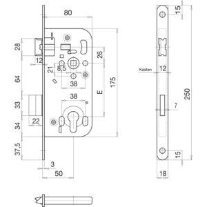 Solido ukopna brava 320 PZ, ključ.mj. 50, trn 8,0, čelik srebrno pocinčani