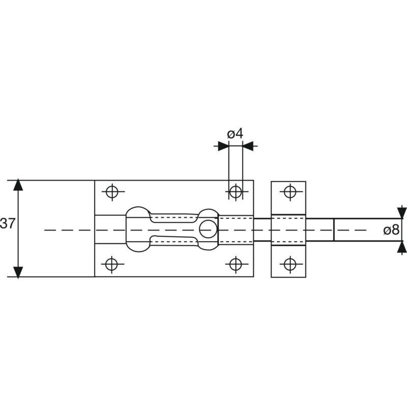 Zasun za vrata Standard, 120 mm, pocinčani čelik