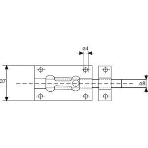 Zasun za vrata Standard, 80 mm, pocinčani čelik