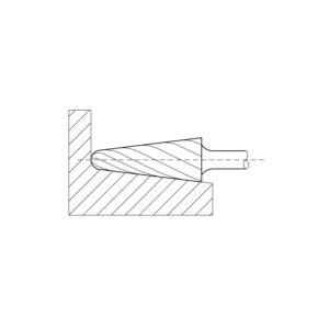 LUKAS HSS glodalo LUKAS, oblik L, konusno, 12/30 mm, ozubljenje 3