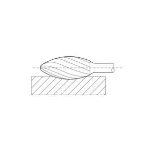 LUKAS HSS-glodalo oblik H plamen, glava ø 8 mm, duljine 20 mm zub 3