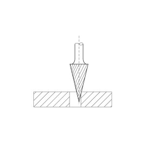 LUKAS HSS glodalo LUKAS, oblik M, stožasto, 12/25 mm, ozubljenje 3