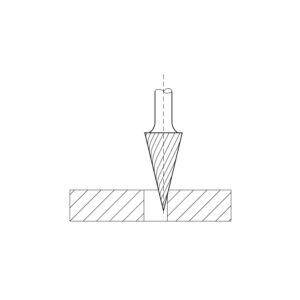 LUKAS HSS-glodalo, oblik M šiljasto-stožast, glava, ø 10 mm, D=20 zub 3