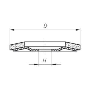 Brusna ploča LUKAS SLTR normalni korund 115 mm, granulacija 60