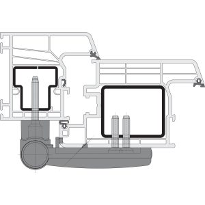 SIKU 3D K3130/35 spojnica za vrata, bijela RAL 9010