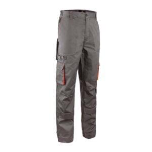 Radne hlače PADDOCK sivo/narančaste