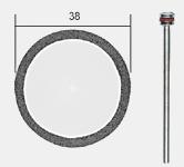 REZNA PLOČA DIAMANT 38x0,6mm SA DRŽAČEM, PROXXON