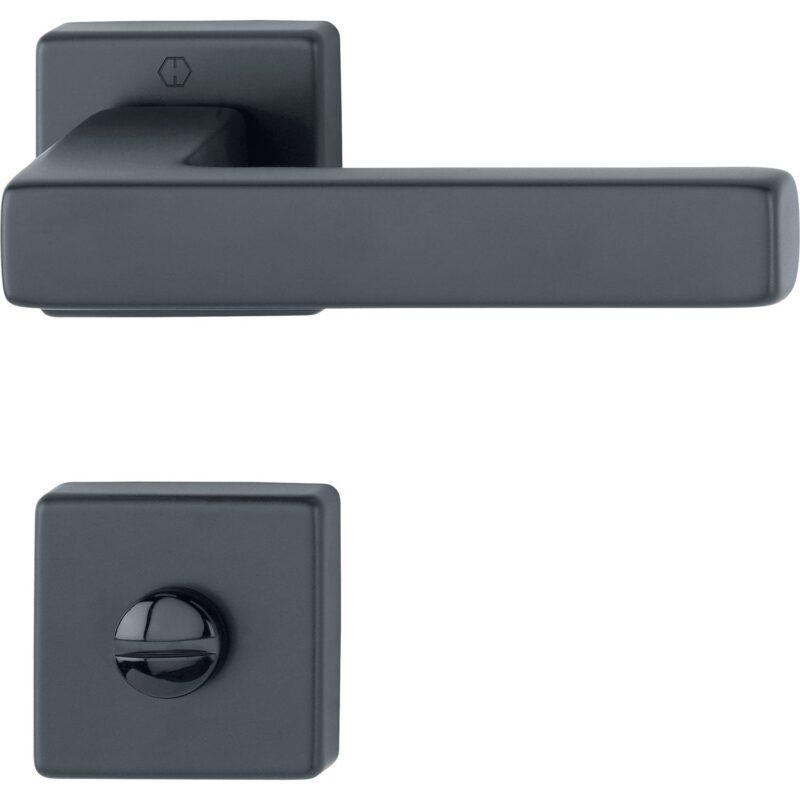 DV005 ppic HOPPE Drueckergarnitur AUSTIN auf Rosette WC aussen schwarz 0