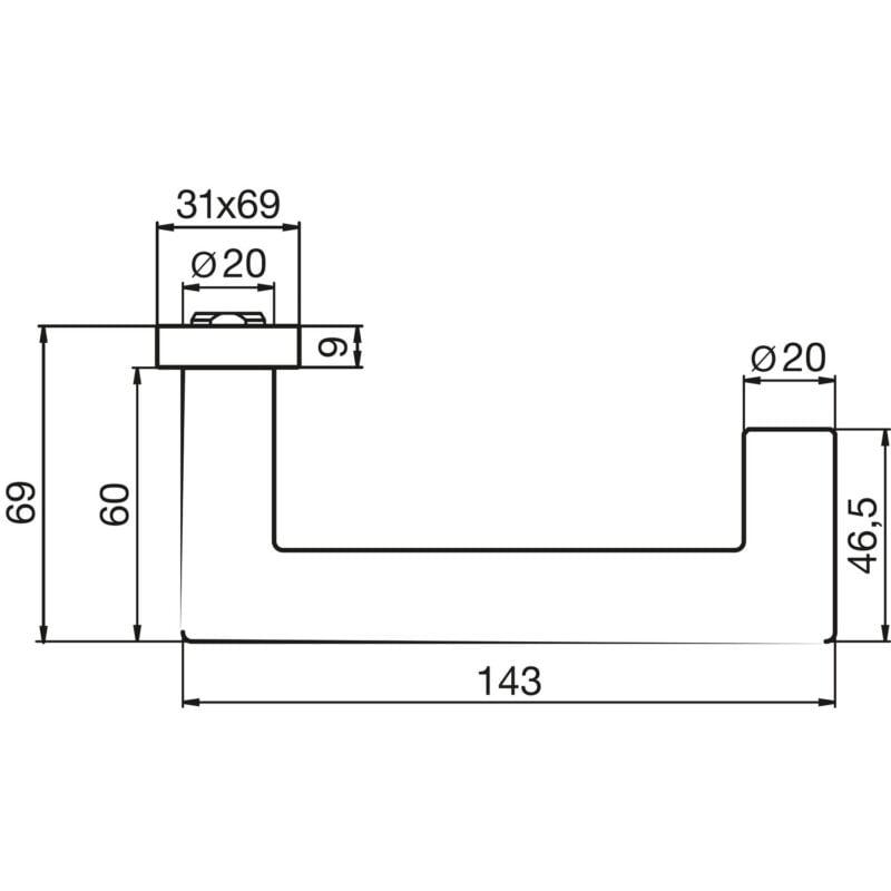 DV005 skiz DORMA Premium 8907 Edelstahl 0