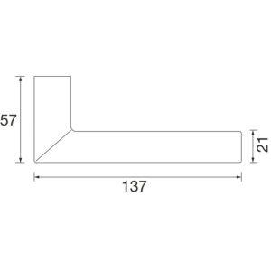 Kvake za vrata 76 1076 sa rozetom, protupožarna, PZ, 39 - 48, FSB