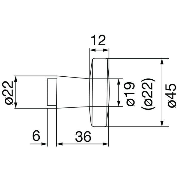 DV005 skiz Grundmann Knopfdruecker Lochteil Flachform 0