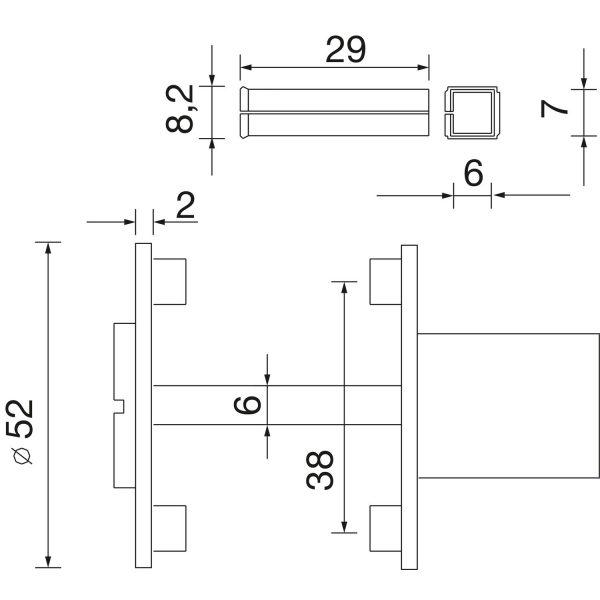 DV005 skiz Solido Notoeffungsgarnitur flachrosette eckig 0