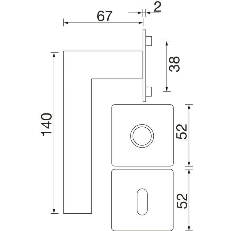 DV005 skiz Solido malmoe Skizze flachrosette eckig 0