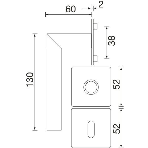 DV005 skiz Solido norwegen Skizze flachrosette eckig 0