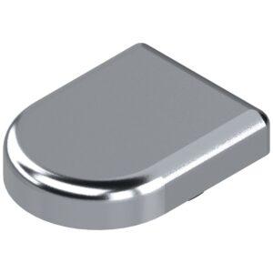 Pokrivna kapica za spojnice za staklena vrata oblik D, kromirano