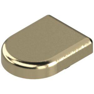 Pokrivna kapica za spojnice za staklena vrata oblik D, pozlaćeno
